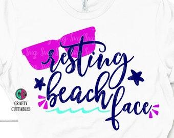 Resting Beach Face svg,Summertime svg,summer svg,girl svg,preppy svg,sunglasses svg,Summer Svg Designs, Summer Cut File, cricut svg