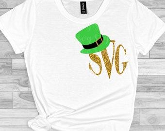 St Patricks Day svg, Leprechaun Hat Monogram svg,Leprechaun Hat svg,Leprechaun svg, St Patricks Day Svg Designs, St Patricks Day Cut File