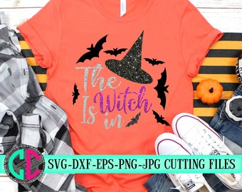 the witch is in svg,halloween svg,witch svg,halloween bat svg,halloween shirt svg,silhouette,tshirt,svg for cricut,bats svg,crafty cuttables