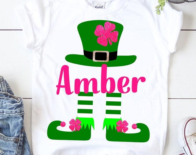 Featured listing image: SVG Leprechaun,st Patricks day svg,girl st patrick's day svg,shamrock svg,kids st patricks day shirt,svg,dxf,png,cricut svg,crafty cuttables