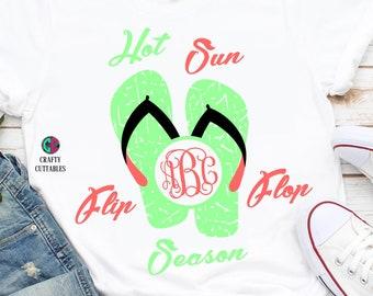 Hot sun flip flop season svg,hot sun svg,Summer svg,preppy svg,beachy svg,Cricut Designs,Silhouette,beach clipart,beach svg,beach hat svg