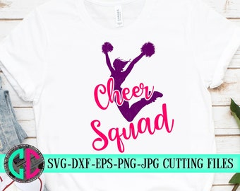 Cheerleader squad svg, Cheer squad Svg, cheerleader svg, football SVG, cheerleading, cheerleader cut file, Cheer Mom SVG, svg for cricut