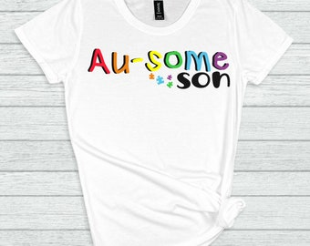 autism son svg, ausome son svg, autism svg, awareness svg, autism puzzle svg, tshirt svg, be kind svg, svg for cricut, silhouette cut file