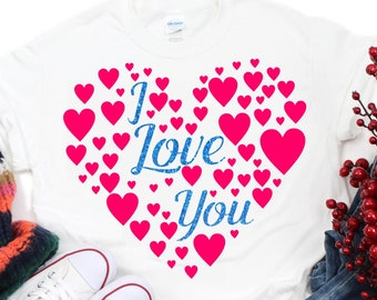 I Love You Hearts svg,Valentine svg,Couples svg,Love svg,Valentine Heart svg,Tshirt svg,Valentine Love svg,Cricut Design,Silhouette Design