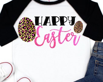 leopard print happy easter svg,dxf,png,eps File for Cutting Machines Cricut, Easter egg svg, plaid svg,easter svg,leopard svg,svg for Cricut