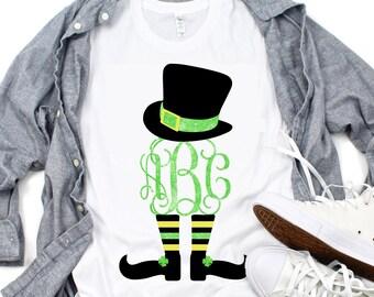 Leprechaun Monogram svg,Leprechaun svg,Leprechaun Hat svg,St.Patrick's svg,Tshirt svg,crafty cuttables,Cricut Design,Silhouette Design