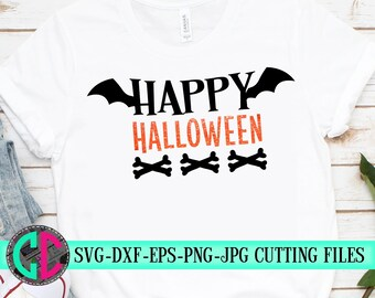 Happy Halloween svg,halloween svg,bats svg,skeleton  svg,Halloween,halloween bats svg,silhouette,tshirt,cameo,svg for cricut,halloween svg