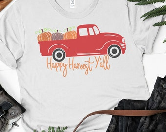 Happy Harvest Red Truck svg,Thanksgiving Red Truck svg,Red Truck svg,Pumpkin svg,Red Truck Pumpkins svg,Cricut Designs,Silhouette Designs