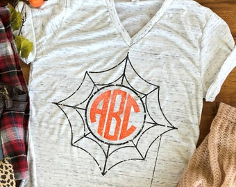Spiderweb Monogram svg,Halloween monogram svg,Halloween svg,Halloween,Scarecrow Monogram,Monogram Halloween,Cricut Designs,Silhouette Design