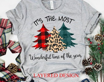 it's the most wonderful time of the year svg, cheetah print svg,Christmas svg,Christmas svg designs, Christmas cut file, svg for cricut