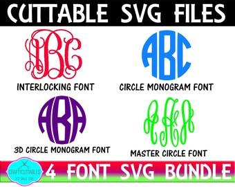 Font bundle SVG,Circle Monogram,Fonts,monogram font svg,Tshirt svg,SVG Font bundle SVG, Digital Font svgs, Cricut Designs,Silhouette Designs