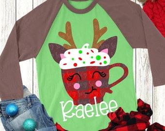 christmas mug svg, Christmas plaid svg, deer svg, girlie svg, snowgirl svg,crafty cuttables,svg,png, eps, dxf,plaid print svg,svg for cricut
