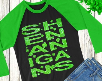 Shenanigans svg,Four Leaf Clover,Shenanigans,St.Patrick's Day svg,Shamrock tshirt svg,crafty cuttable,Cricut Design,Silhouette Design