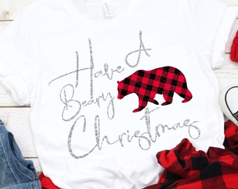 have a beary christmas svg, plaid svg,Christmas svgs,bear svg,Christmas Shirts, Christmas Svg Design, Christmas Cut Files, cricut svg