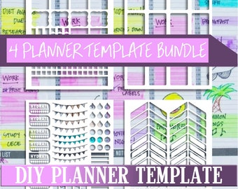 Bundle sale,Planner stickers templates DIY kit, life planner template, commercial use, instant download,Cricut Designs,Silhouette Designs