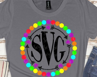 autism monogram svg, monogram, autism svg,awareness svg, autism puzzle svg, tshirt svg, be kind svg, cricut svg, svg for mobile, mobile svg