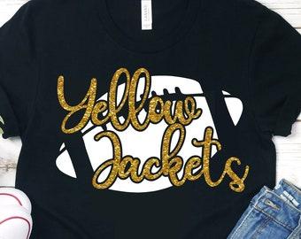 yellow jackets football svg, Football svg,jackets football,yellow jackets,yellow jackets svg,football mom svg,svg for cricut,school football