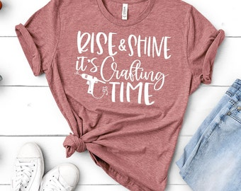 crafting svg, rise and shine its crafting time svg, craft svg svg,Crafty Saying, Craft svg, Craft svg designs, Craft cut file, Crafting svg