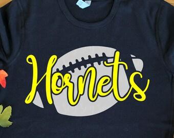 hornets football svg, Football svg, hornets football, hornets, hornets svg, Sports Svg Designs, Sports Cut File, cricut svg