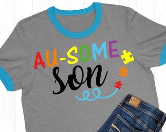 Autism Son SVG,autism decals,Autism Awareness,Ausome Son,Autism tshirt,Autism svg,Tshirt svg,Cricut Designs,Silhouette Designs