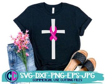 Breast Cancer svg, cancer ribbon svg, cancer svg, awareness svg, blessed svg design, cancer cut file, cancer svg design, svg for cricut