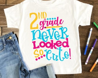 2nd grade never looked so good svg, 2nd grade svg, school svg, back to school svg, tshirt, teacher,svg for cricut,silhouette cut file
