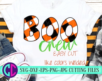 boo crew svg,plaid boo crew svg, Svg files for Cricut, boo svg, crew Svg, plaid svg, tshirt svg, halloween svg, halloween crew svg, Iron On