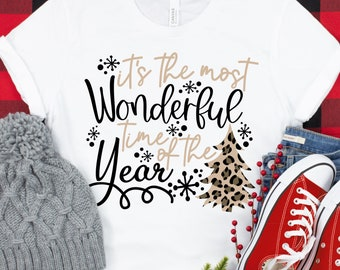 most wonderful time of the year leopard svg, leopard  christmas tree svg, Christmas svg designs, Christmas cut file, svg for cricut