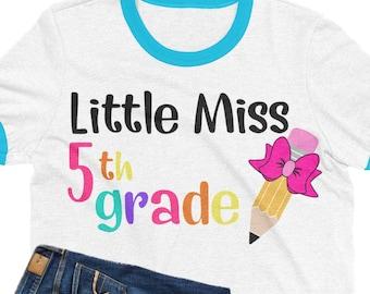 little miss 5th grade svg,Pencil svg,school svg,fifth grade svg,teacher svg,svg for cricut, bow svg,pencil bow,5th grade svg,back to school