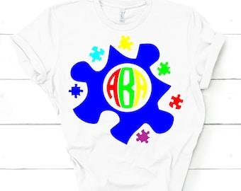 Monogram Autism SVG,Autism design, autism awareness, autism, autism svg,Tshirt svg,autism puzzle svg,Cricut Designs,Silhouette Designs