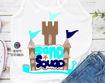 Sand Squad svg,summer svg,vacation svg,svg SUMMER,kids svg,beach svg,svg sand castle,Cricut Designs,Silhouette Design,summer,sand castle svg