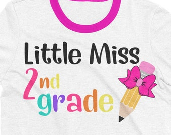 little miss 2nd grade svg,Pencil svg,school svg,second grade svg,teacher svg,svg for cricut, bow svg,pencil bow,2nd grade svg,back to school