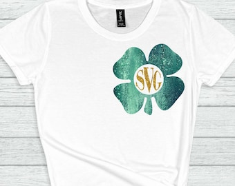 St Patricks Day Svg, Shamrock Monogram svg,Four Leaf Clover,Clover Monogram,St Patrick Day Svg Designs, St Patricks Day Cut File, cricut svg