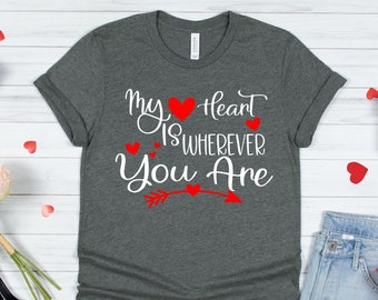 my heart is wherever you are Svg, Wine Valentine Svg, Wino valentine Svg, Valentines Day Svg, Valentine Svg Designs, Cricut