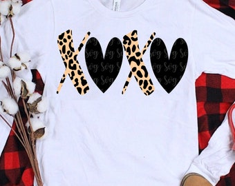 leopard print heart xoxo svg,cheetah print svg,XOXO,Valentine svg,Valentines svg,Valentine Tshirt,svg for cricut,XOXO SVG,leopard print svg