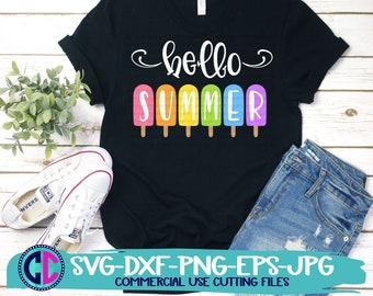 Summer Svg, Hello Summer svg, Summer svgs, hello summer popsicles svg, Flowers svg, Summer svg design, Summer cut file, Summer cricut