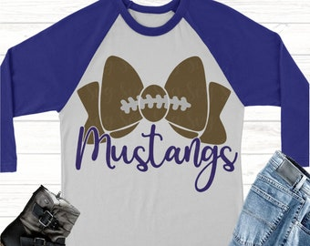 mustangs football bow svg,Football svg,mustangs football, mustangs, mustangs svg, Sports Svg Designs, Sports Cut File, cricut svg