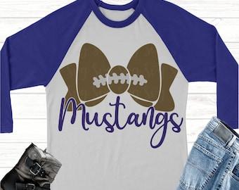 mustangs football bow svg,Football svg,mustangs football, mustangs, mustangs svg, Sports Svg Designs, Sports Cut File, cricut svg