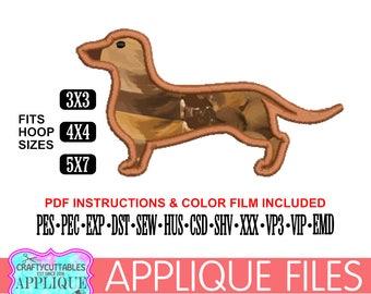 Dachshund Applique,Dachshund Embroidery,Dachshund Digital Applique,Digital Embroidery,Applique Files,Cricut Designs,Silhouette Designs