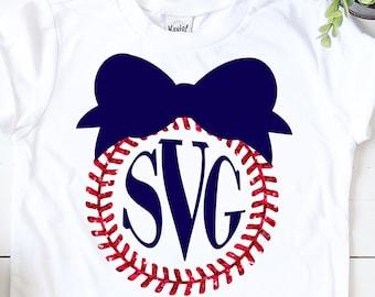 Baseball Laces Monogram Bow svg,Baseball Bowsvg,baseball monogram svg,baseball laces,Sports Svg Designs, Sports Cut File, cricut svg