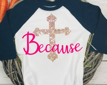 Cross svg,Because Cross svg,Easter Cross svg,Easter svg,Easter Tshirt,Religious svg,Easter Svg Designs, Easter Cut File, cricut svg