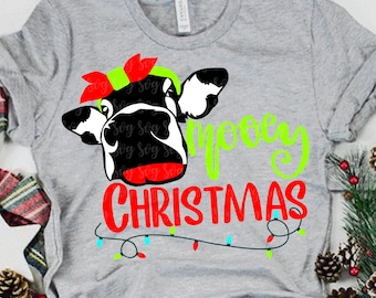 mooey christmas svg, cow svg, cow face svg, moo svg, christmas svg, moo cow svg, Christmas svg design, Christmas cut file, svg for cricut