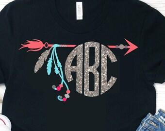 Arrow Monogram svg,Boho svg,Tribe Svg,Arrow svg,Tent svg,Monogram svg,Circle Monogram svg,Monogram,Cute monogram svg,dxf,eps,png,gypsy svg,