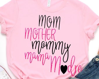 Mom svg,Madre svg,Mom Tshirt,Mom Mother Madre svg,Mothers Day svg,Mama tshirt,Mommy svg,Crafty Cuttables,Cricut Designs,Silhouette Design