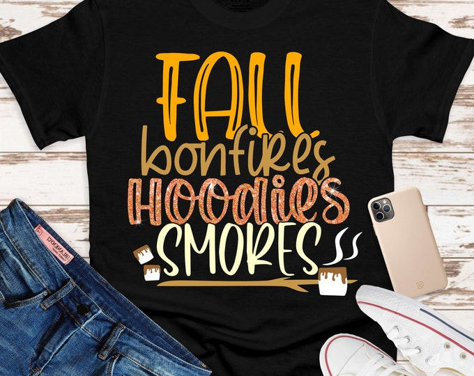 Featured listing image: fall bonfires hoodies smores Svg, smore svg, bonfire svg, hoodie svg, fall Svg Designs,fall Cut Files,svg for cricut,svg for mobile