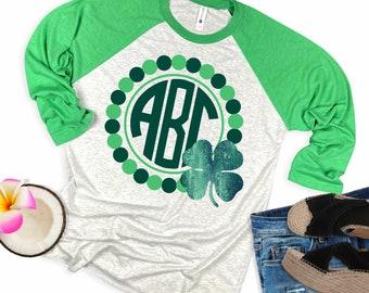 Shamrock  svg,Luck Shamrock svg,monogram svg,St.Patrick's Day svg,Lucky tshirt,crafty cuttable,Cricut Design,Silhouette Design