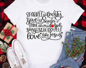 Give Like Santa svg, dance Like Frosty svg, Love like Jesus svg, buddy elf svg, Christmas svg designs, Christmas cut file, cricut svg