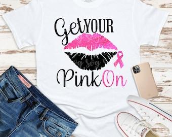 breast cancer svg, lips cancer ribbon svg, cancer survivor, awareness ribbon svg, cancer svg, get your pink on svg,cricut svg