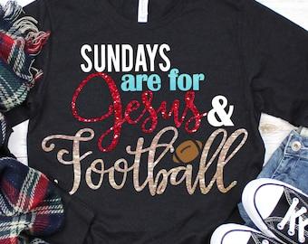 Sundays Are For Football SVG, Football svg, Jesus svg, Sayings, Football decal svg, Sports Svg Designs, Sports Cut File, cricut svg