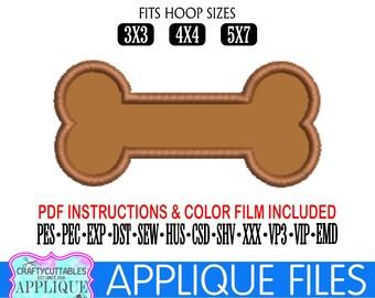 Dog Bone Applique,Dog Bone Embroidery,Dog Bone Digital Applique,Digital Embroidery,Applique File,Embroidery,Cricut Designs,Silhouette Design